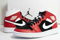 Nike Women's Air Jordan 1 Mid Gym Red White Black BQ6472-601