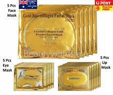 Gold Gel Anti-Wrinkle Dark Circle Collagen Under Eye Patches Face Mask Lip Mask