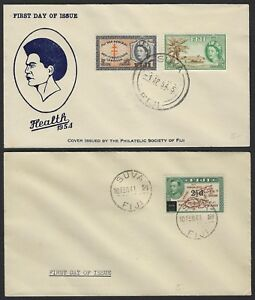 FIJI 1941 55 COLLECTION OF 5 FDCs ALL DIFFERENT