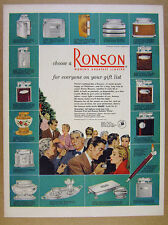 1950 Ronson Lighters 17 Styles Models illustrated color art vintage print Ad