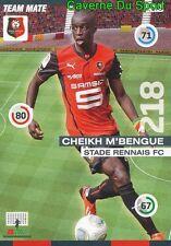 175 CHEIKH M'BENGUE SENEGAL STADE RENNAIS.FC CARD ADRENALYN 2016 PANINI D