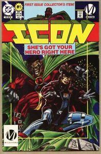 Icon #1-1993 vf 8.0 DC Comics Milestone Standard Cover 1st app Rocket