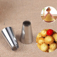 #195 Icing Piping Nozzle Stainless Steel Baking Mold  Pastry Cake Ice Cream Tool