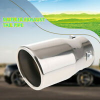 Car Modified Stainless Steel 76mm Exhaust Muffle Silencer Tail Pipe Tip Throat