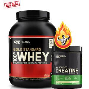 Optimum Nutrition Gold Standard 100% Whey Protein 2.27kg & Creatine 93 servings
