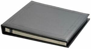 Black Faux Leather Photo Album with Self Adhesive Black Sheets, Max. 8x10 Prints