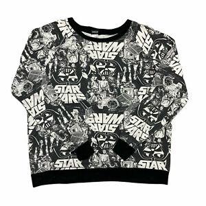 Star Wars Mens Sweatshirt All Over Print Crew Neck Jumper Size L