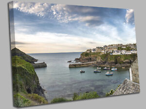 Port Isaac  Cornwall Canvas Wall Art Picture Print