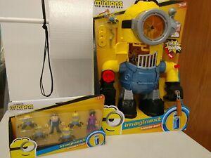 Fisher Price imaginext Minion Bot Robot Rise of Gru kung fu + 6 xtra mini figure