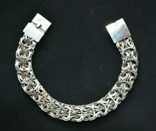 Massive Bracelet - wear or scrap Solid 925 Sterling Silver Large Unique Men's