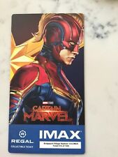 Captain Marvel Regal Movie Collector's Ticket ~ Limited Edition of 1000