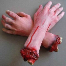 Horror Scary Halloween Prop Bloody Fake Severed Life size Arm Hand Haunted House