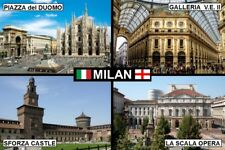 SOUVENIR FRIDGE MAGNET of MILAN ITALY