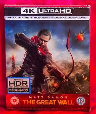 The Great Wall Zavii Limited 4K Ultra HD Steelbook + 2D Blu-ray NEW