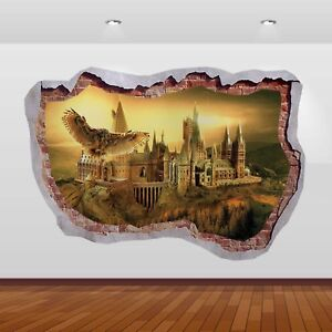 Harry Potter Hogwarts Castle Alley 3D Smashed Wall Sticker Poster Decal Art 825