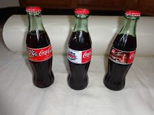 Lot of 3 Collectible 8 oz Sealed Coke Bottles - Tony Stewart, 600 Race & SB 2000
