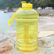 2PCS Large 2.2Litre BPA Free Sport Gym Half Gallon Training Workout Wate
