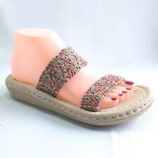 526c7a536405 SBICCA Comfort Slip On Womens Size 8 10 Multi Color Jute Slides Sandals  Made USA