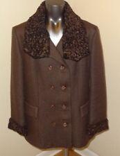 Vintage Brown Tweed Winter Coat * Penn Fifth Avenue NY * Women's Medium