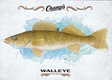 15/16 UPPER DECK CHAMPS FISH #F-28 WALLEYE *18920