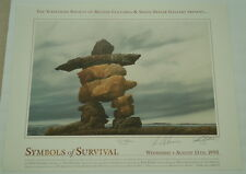TED HUGHES Poet Laureate Signed Print - Symbols of Survival 03-01