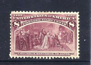 US Stamps - #236 - MH  -  8 cent 1893 Columbian Expo issue - CV $47