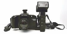 Olympia Camera 35mm SLR Pre Focusing Motor Camera Flash Attachment Neck Strap