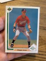 1991 Upper Deck Chipper Jones Atlanta Braves #55 Baseball Card🔥🔥🔥🔥🔥