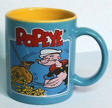 Popeye Hall of Fun Coffee Tea Mug Blue EUC