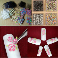 50 PCS Mixed 3D Nail Art Stickers Water Transfer DIY Manicure Decoations