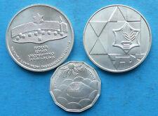 ! Israel Silber 3x, Sheqel 1983 Independence 1984 Hanukka Lamp Theresienstadt +