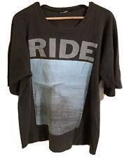 Vintage Rare Original RIDE 1991 Australian Tour T-Shirt Good Cond.