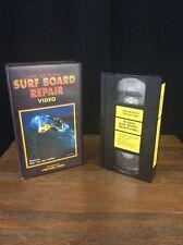 Surf Board Repair Video Vhs Vintage HTF KEN COLLINS  Skin Dog surfer California