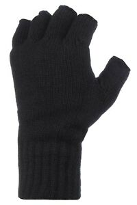 Heat Holders Winter Warm Thermal Fingerless Outdoors Gloves Mens One Size
