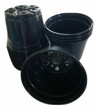 "6 inch Round Black Plastic Pots - SET OF 220 - (6"" x 4.4"")  flower pot Nursery"