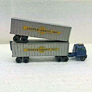 Vintage Lesney Matchbox Major Pack M-9 Double Trainer Cooper Jarrett Semi Truck
