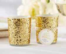 10x All That Glitters Gold Tealight Candle Holder Wedding Bridal Party Favours