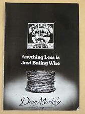 vintage magazine advert 1988 DEAN MARKLEY STRINGS