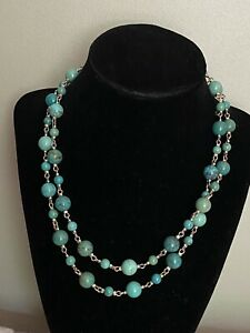 """Turquoise Designer Whitney Kelly QVC 925 Sterling Silver Toggle Necklace 36"""" L"""