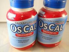 Oscal Calcium + d3 Supplement ,strong bones  160 caps each ( 2pks) exp 12-2018