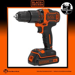 BLACK+DECKER. Trapano Avvitatore a percussione - Hammer drill   BDCHD18K o KB-QW