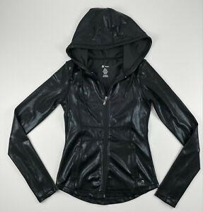 Buffbunny Northern Lights Jacket Black Stone Zip Up Hoodie Shiny Size Small
