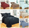 New Luxury Bedspread Diamond Reversible Comforter 5 Pieces Bed Set Throw Quilted