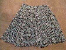 Skirt Jones New York Ladies 14 Petite Silk Flouncy Flared Black Brown Burgundy