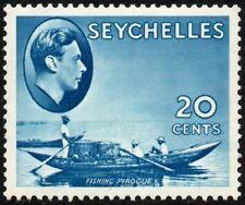Seychelles 1938-49 20c. fishing pirogue, MH (SG#140)