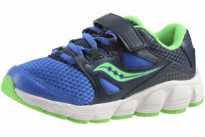Saucony Big Boy's Kotaro-4-AC Navy/Green Athletic Sneakers Shoes Sz: 5.5