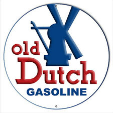 Gasoline Old Dutch Reproduction Motor Oil Metal Sign 14x14