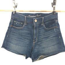 American Eagle Outfitters Stretch Denim Jean Shorts Medium Wash Blue Womens 12