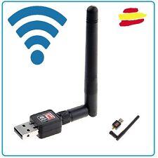 Antena wifi USB receptor internet 150 Mbps LAN portatil PC 2 DBI alcance vecino