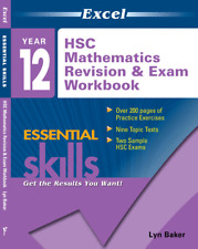 EXCEL YEAR 12 MATHEMATICS REVISION AND EXAM WORKBOOK 9781741251517 FREE SHIPPING
